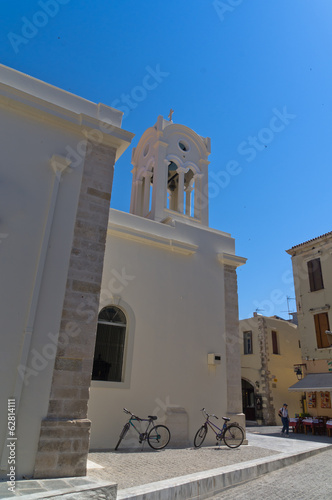 Church at the old city of Rethymno, island of Crete
