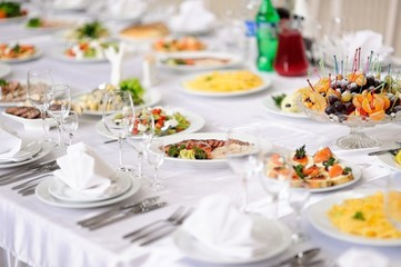 table set service with silverware and glass