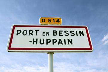 Port en Bessin - Panneau de commune