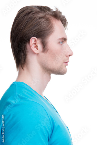 Profile portrait of handsome man.