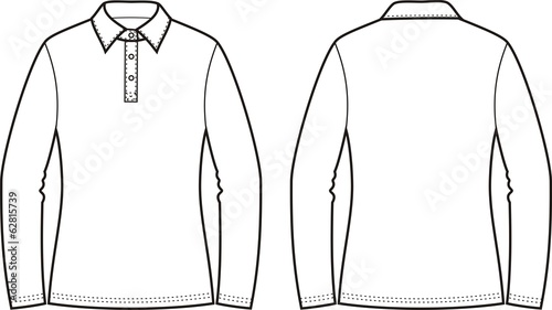 Vector illustration of women's polo jumper