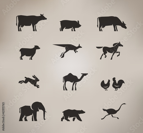 Animals. Vector format