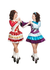 Irish dancers in hard shoes