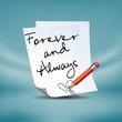 Forever&Always note