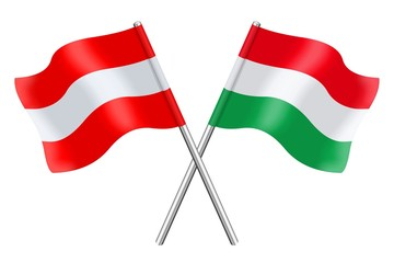Flags : Austria and Hungary