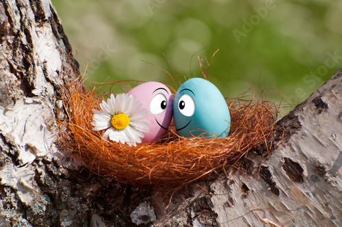 couple of eggs in the nest for Easter