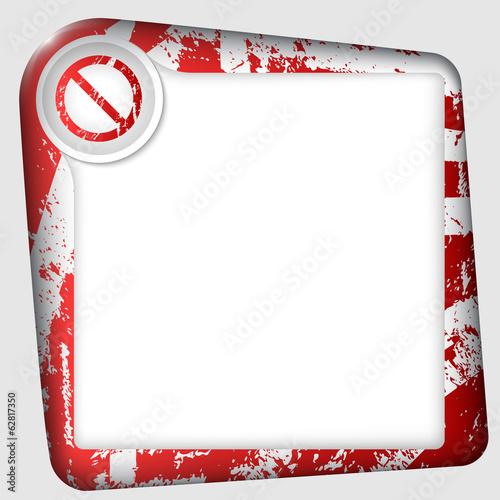 vector frame for inserting text with ban mark