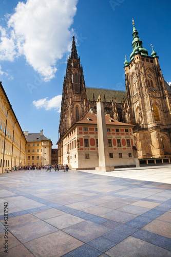 Square in front of St. Vitus Cathedral in Prague