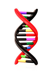 Black and Colorful Dna
