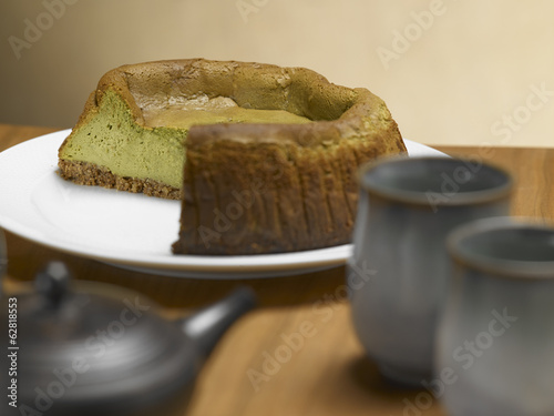 Tea Matcha cheese cake