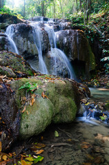 Phu-Kaeng waterfall in deep forest in Thailand