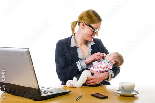 Baby on Workplace