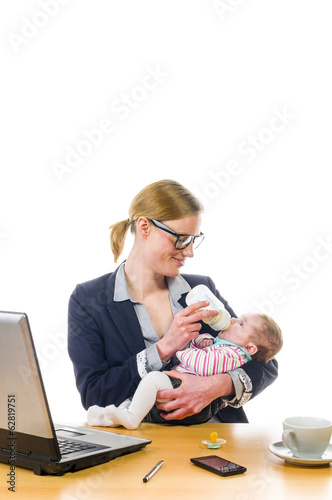 Feeding baby in office