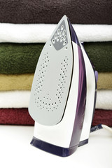 steam iron with cotton cloth