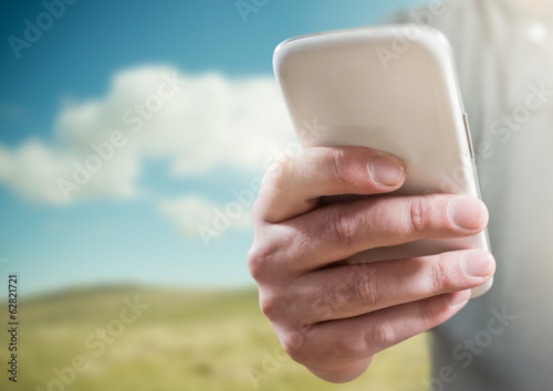 A Person Using a Mobile Phone