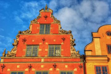 Stockholm vintage architecture, hdr image.