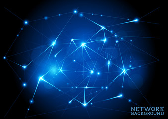 Connected Network Background