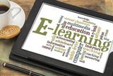 Fototapety e-learning word cloud