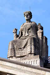 Lady Justice Atop Courthouse