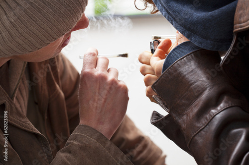 Two young smokers