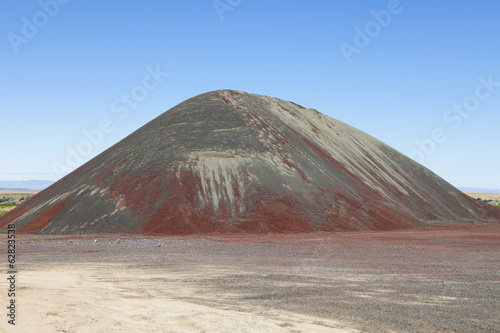 Gravel pile is used for road maintenance and construction purposes