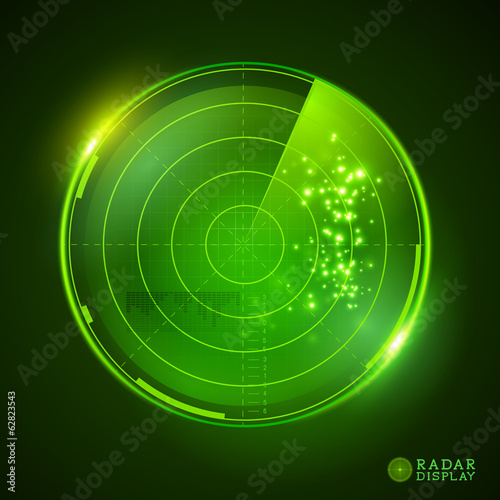 Green Vector Radar Display