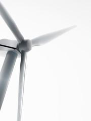 A wind turbine, or wind power generator.
