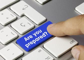 Are you prepared? Keyboard