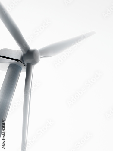 A wind turbine, or wind power generator.