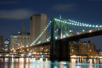 View of Brooklyn Bridge in New York City