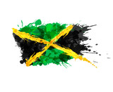 Fototapety Flag of Jamaica made of colorful splashes