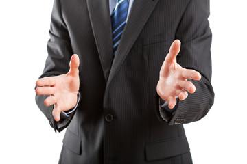 Business open gesture