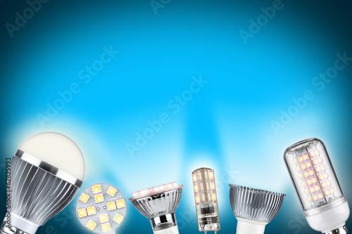 Leinwanddruck Bild LED light concept