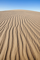 Sand dune patterns in the Namib-Naukluft National Park, Namibia.