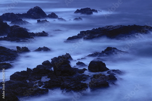 Surf at twilight, Garrapata State Beach, Big Sur, California