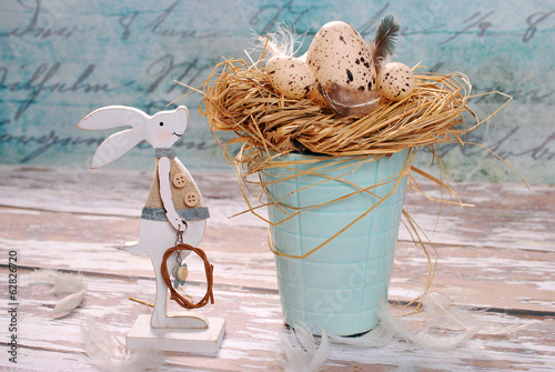 easter decoration in pastel colors