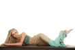 woman mermaid lay stomach full body