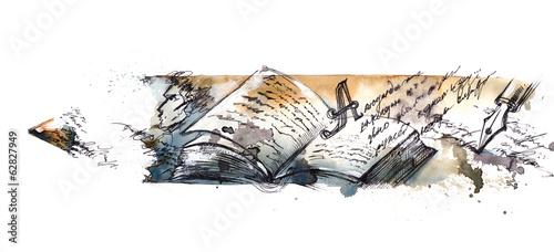 canvas print picture literature