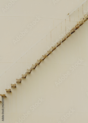Steps on oil storage container