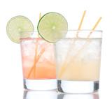 Summer beach margarita cocktails drink in spirit glasses poster