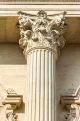 Corinthian Column Of Justice Closeup