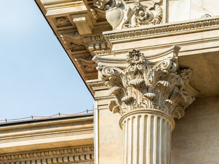 Corinthian Column Close Up