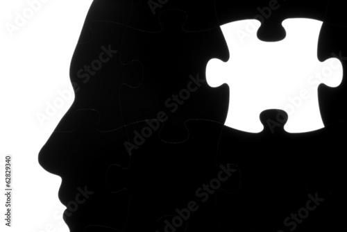 missing jigsaw puzzle piece in head