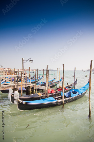 Venice, Italy with gondolas