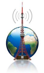 Antenna con mondo