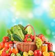 Balanced diet based on raw organic vegetables
