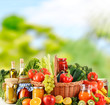 Постер, плакат: Balanced diet based on raw organic vegetables