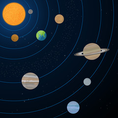 Realistic Solar System Illustration