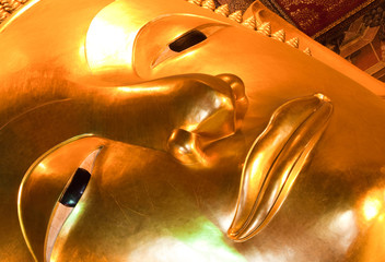 The Golden Buddha in the temple of Wat Traimit, Bangkok, Thailand