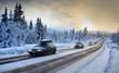 canvas print picture - Motion Blur of Car